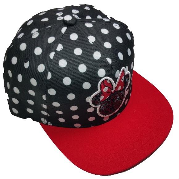 Disney Minnie Mouse Baseball Cap Hat Black Red 564fa4044fd4